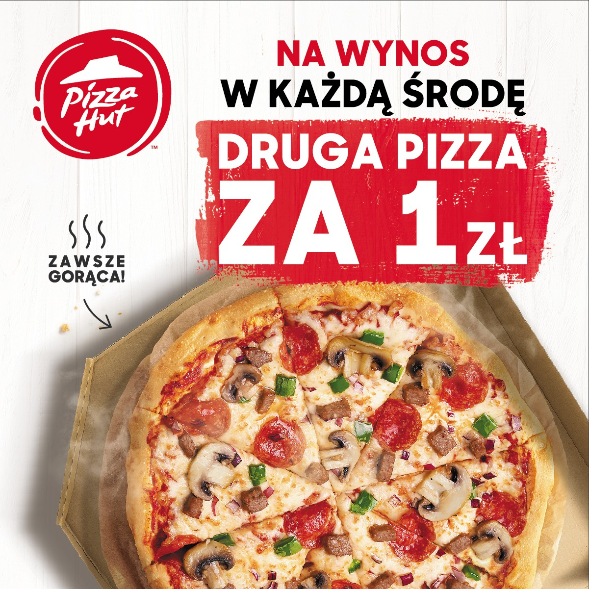 PIZZA HUT: druga pizza za 1 zł