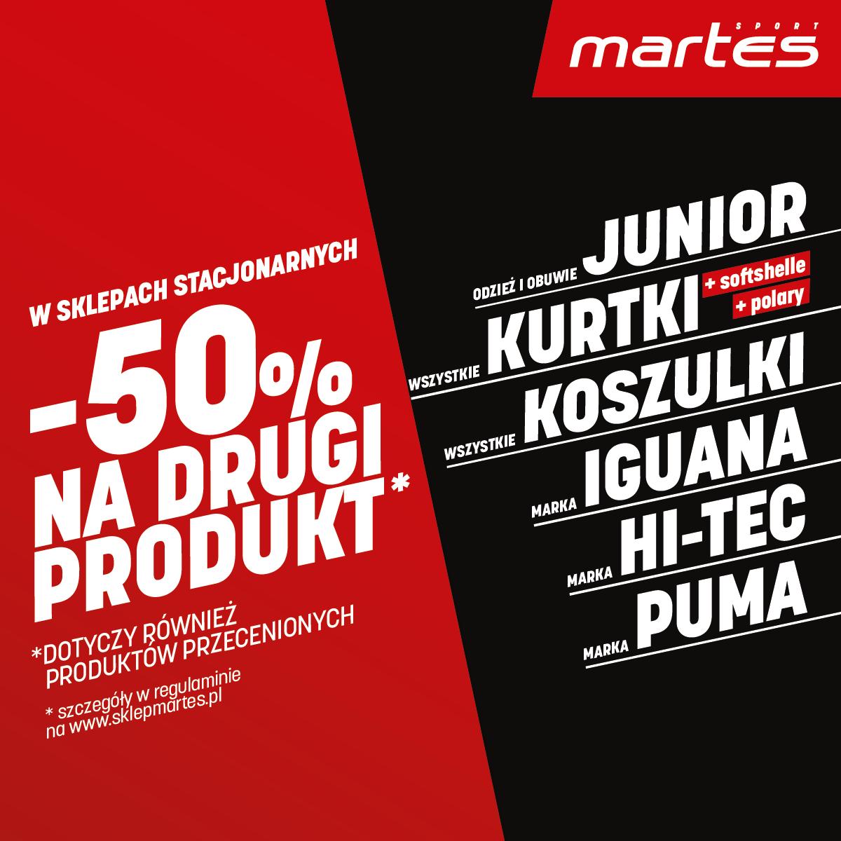 MARTES SPORT: drugi produkt za pół ceny