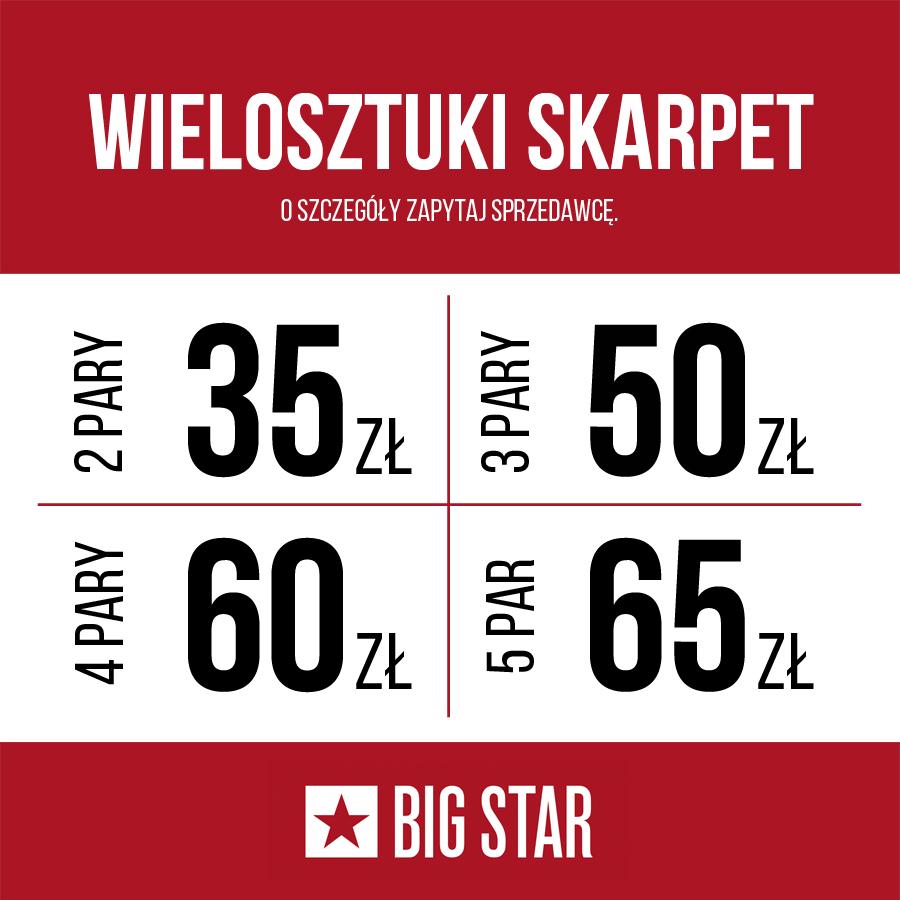 BIG STAR: wielosztuki skarpet