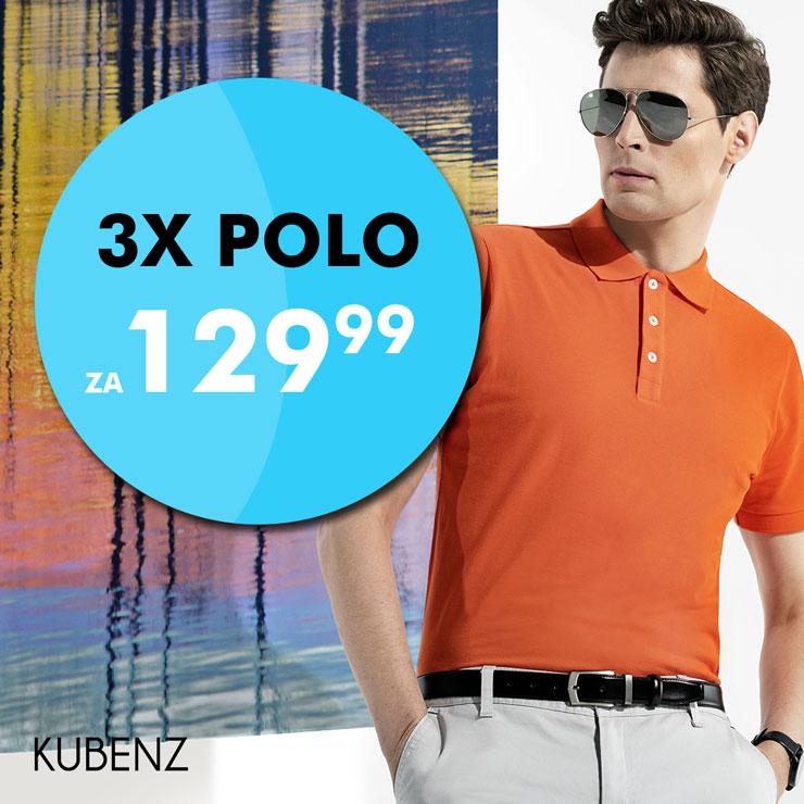 KUBENZ: koszulki POLO – 3 szt. za 129,99