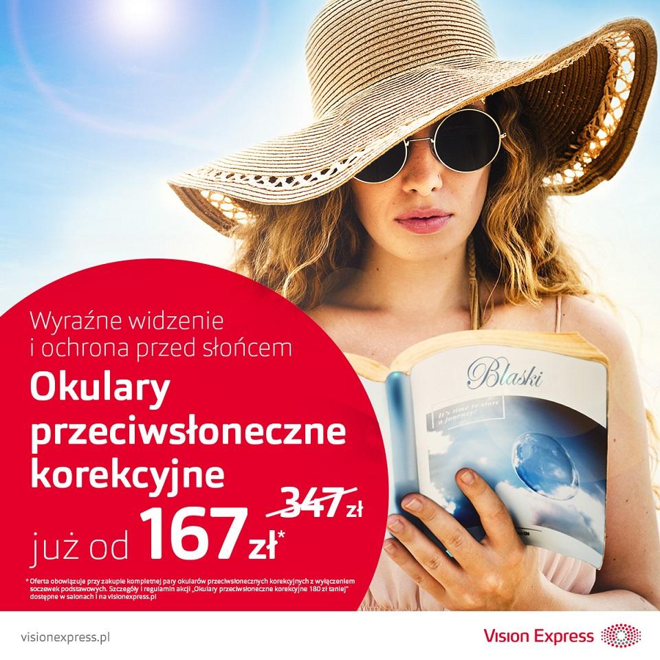 VISION EXPRESS: okulary przeciwsłoneczne korekcyjne od 167 zł