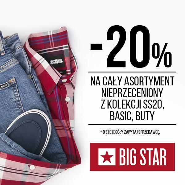 BIG STAR: -20% na wszystko