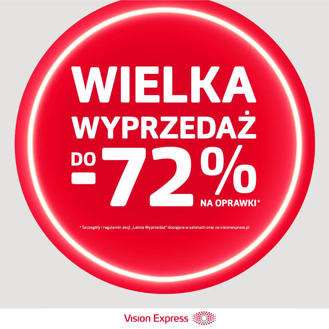 VISION EXPRESS: wielka wyprzedaż do -72%