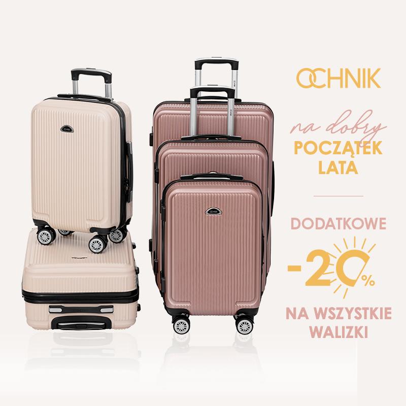 OCHNIK: Wszystkie walizki dodatkowe 20% taniej!