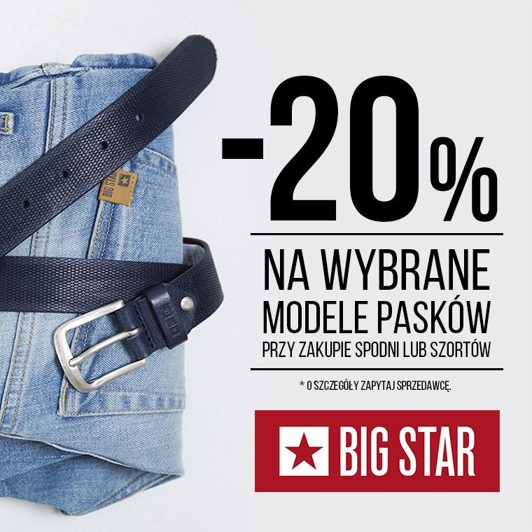 BIG STAR: wybrane modele pasków -20%