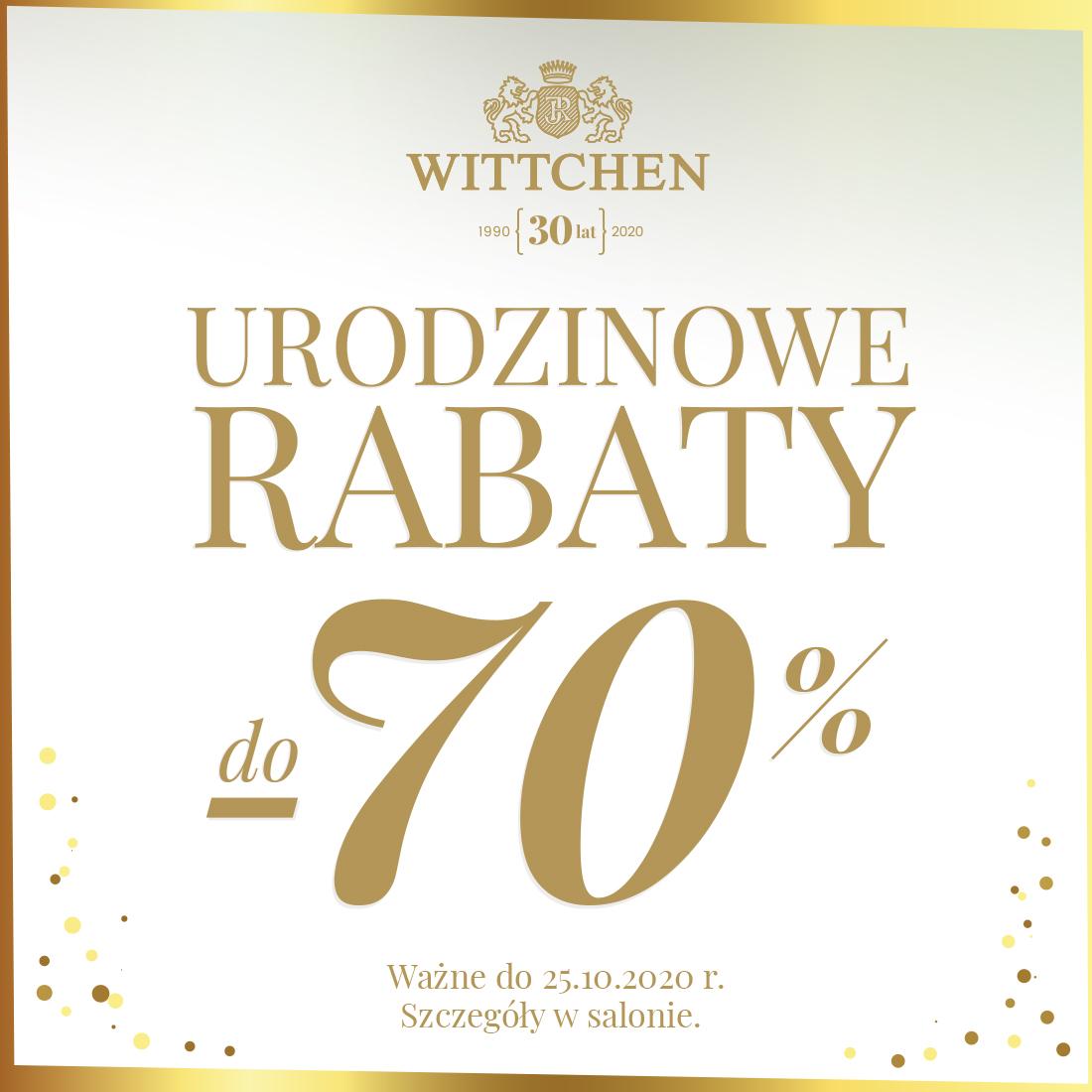WITTCHEN: urodzinowe rabaty do -70%