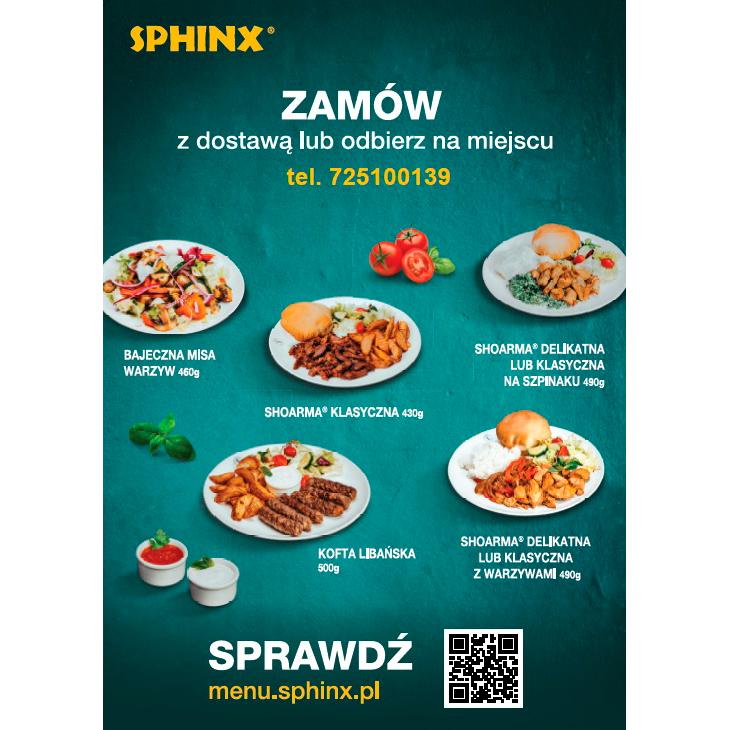 SPHINX: zamów z dostawą lub odbierz na miejscu