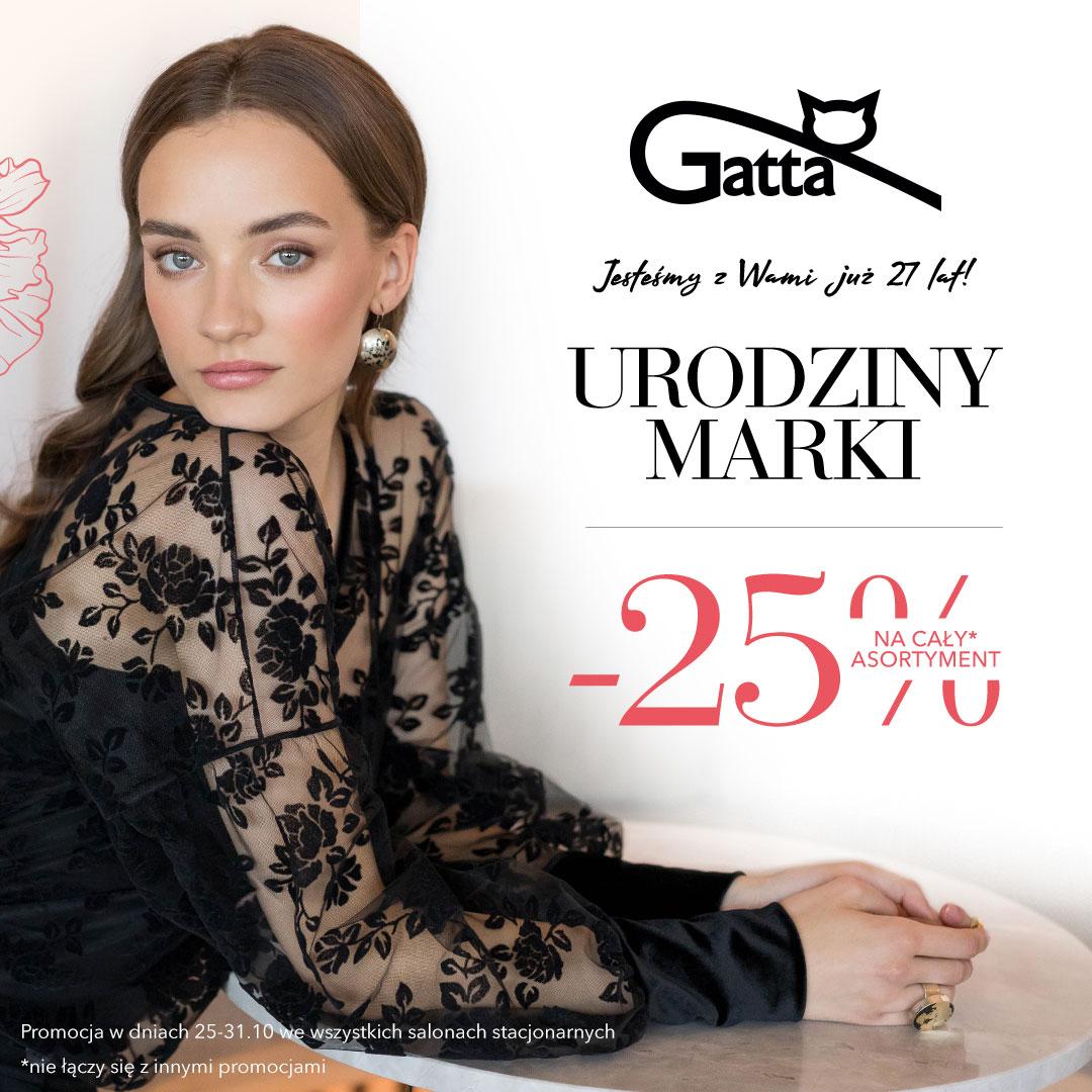 GATTA: urodzinowy rabat -25%