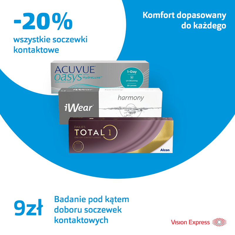 VISION EXPRESS: soczewki kontaktowe -20%