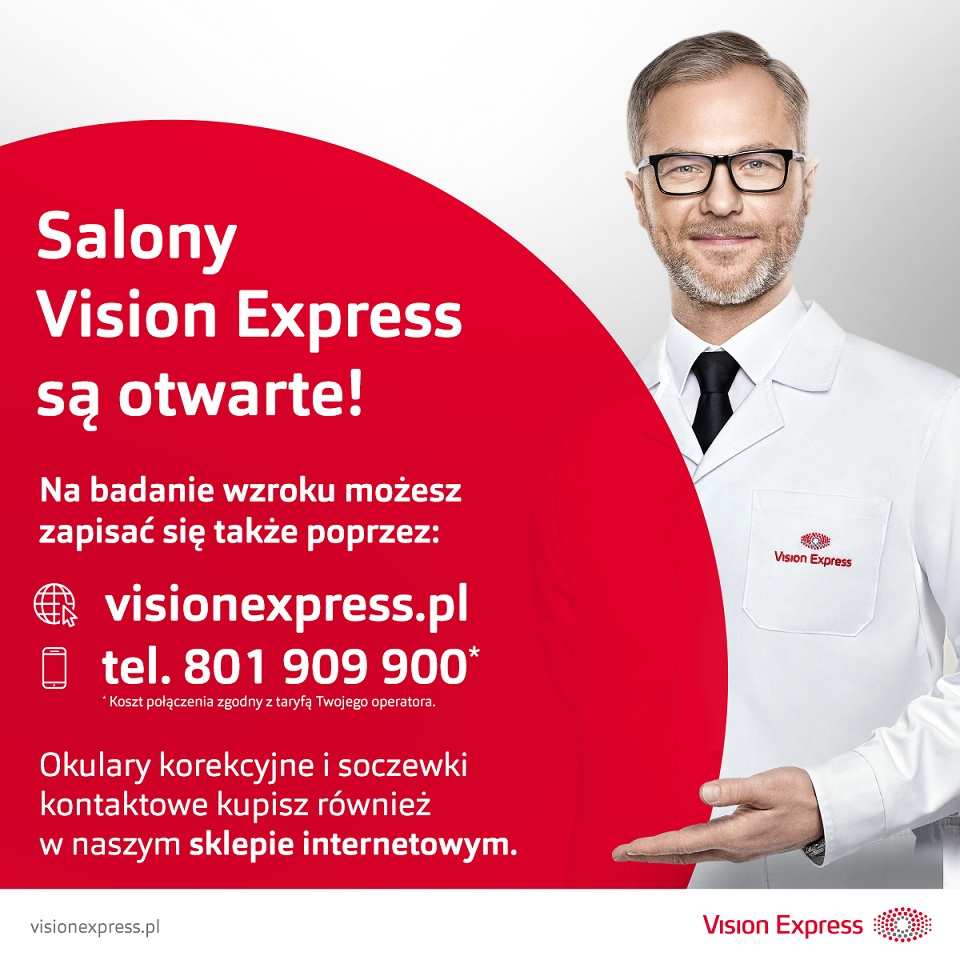 VISION EXPRESS: jesteśmy otwarci