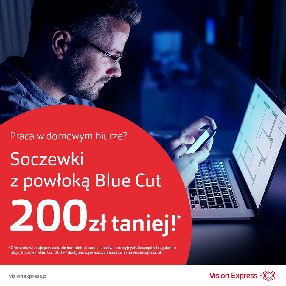 VISION EXPRESS: soczewki blue cut 200 zł taniej