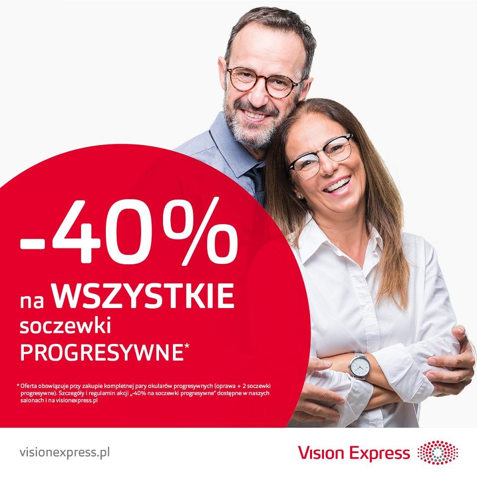 VISION EXPRESS: soczewki progresywne -40%