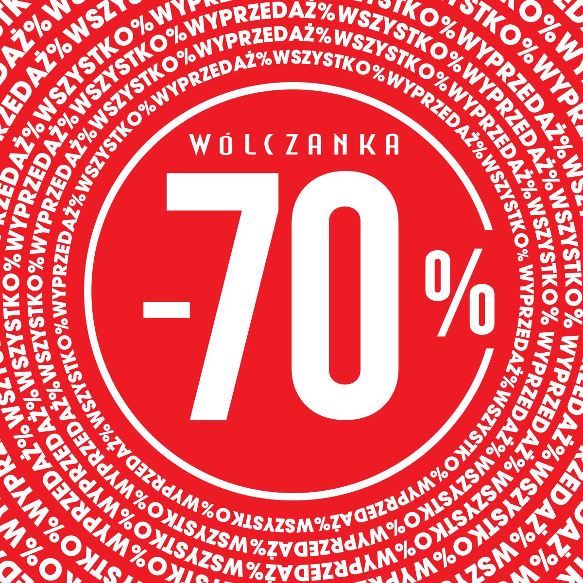 WÓLCZANKA: wyprzedaż do -70%