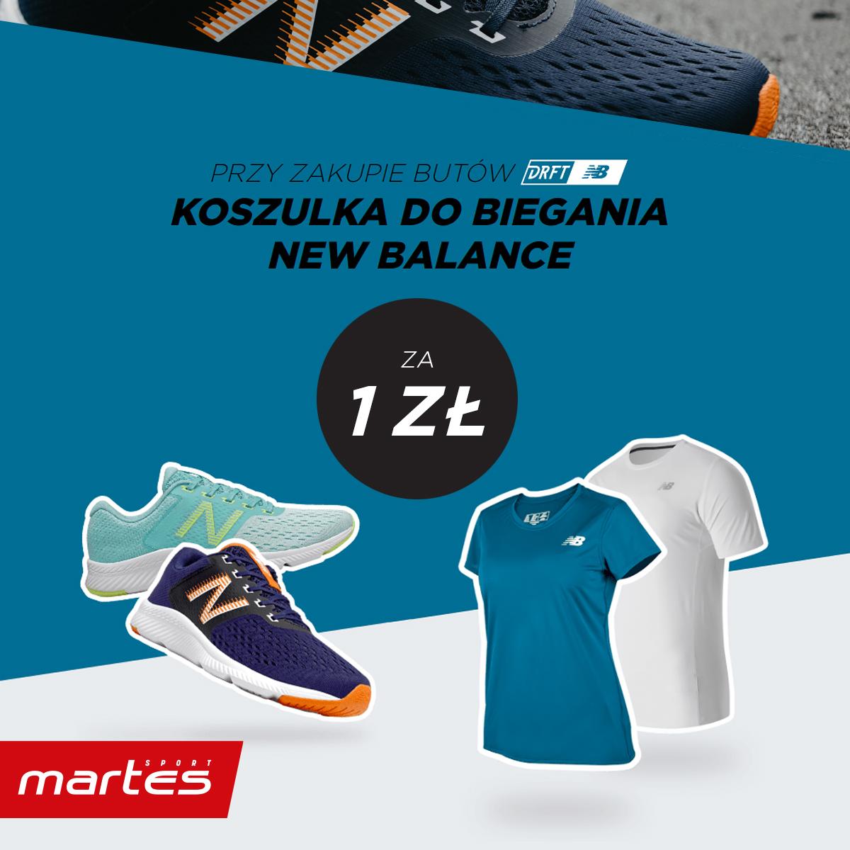 Kup Obuwie biegowe New Balance i odbierz koszulkę za 1 PLN