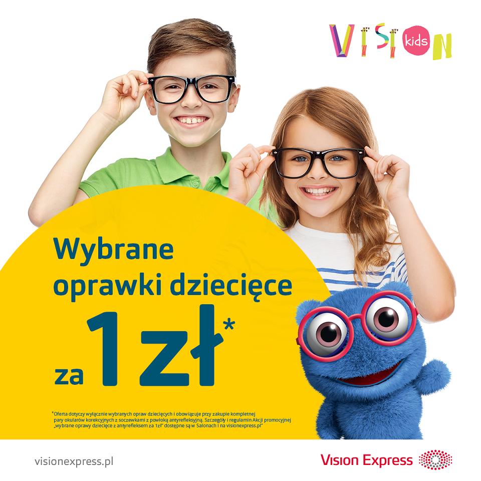 VISION EXPRESS: wybrane oprawki dziecięce za 1 zł