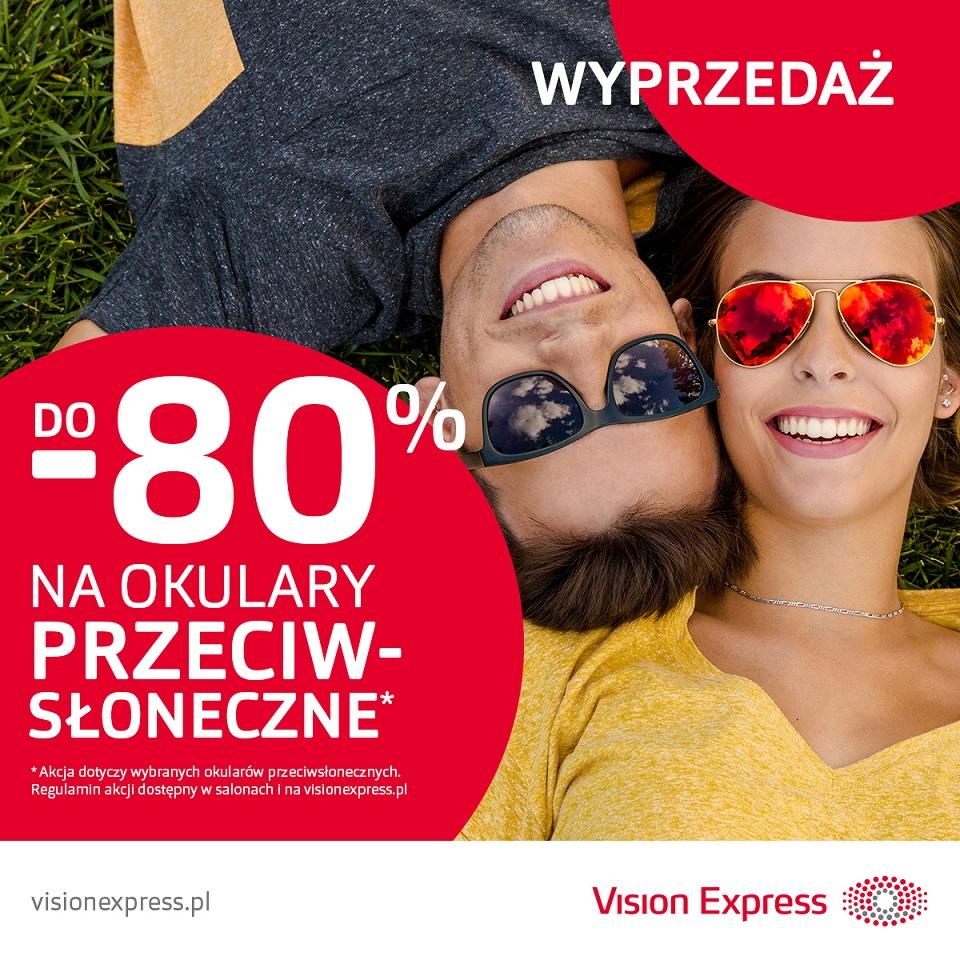 VISION EXPRESS: wyprzedaż okularów przeciwsłonecznych do -80%