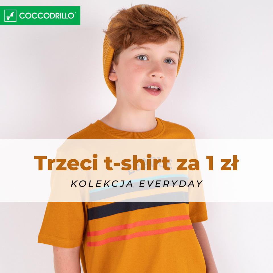COCCODRILLO: trzeci t-shirt za 1 zł