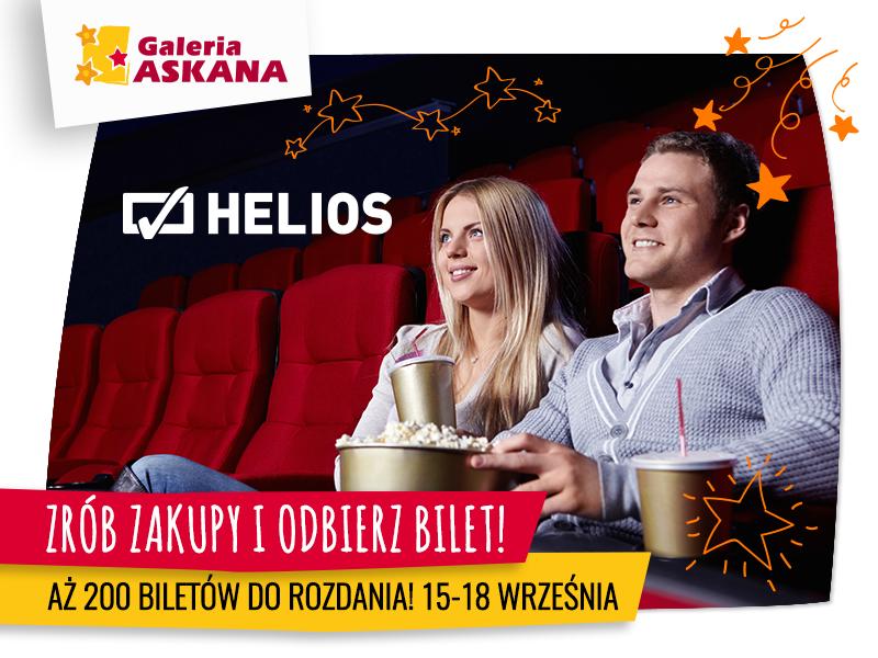 Bilety do kina HELIOS w prezencie!