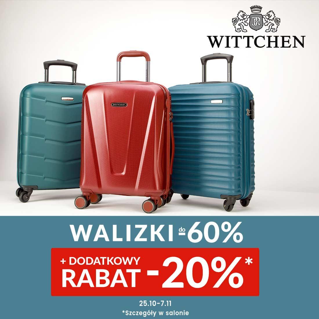 WITTCHEN: walizki do -60% + ekstra rabat